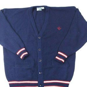 VTG Jimmy Connors Slazenger XL Cardigan Sweater